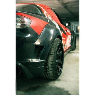 Mazda RX8 rear fender flares, widebody | +60 mm