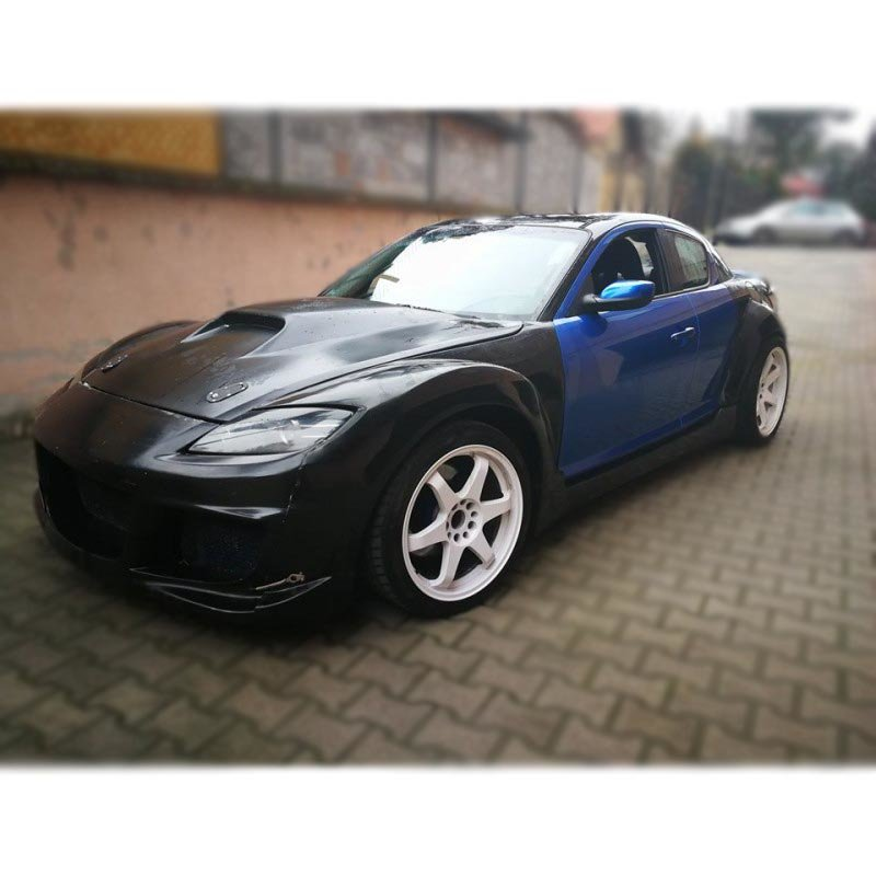 Mazda RX8 hood with air intake