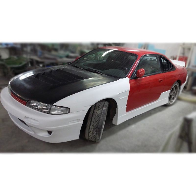 Nissan Silvia S14 front fender, ROCK-Style | +25 mm