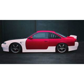 Nissan Silvia S14 / S14a side skirts, ROCK style