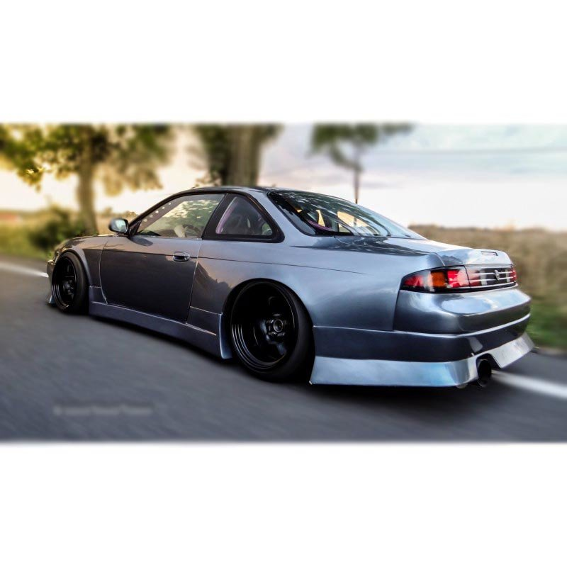 Nissan Silvia S14 / S14a side skirts, BN SPORT-Style | +25 mm