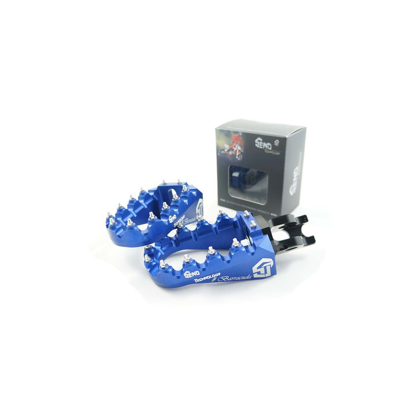 Footpegs adjustable #Barracuda Yamaha 96-/ GASGAS 99-, blue