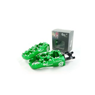 Footpegs adjustable #Kaiman Kawasaki 06-, green