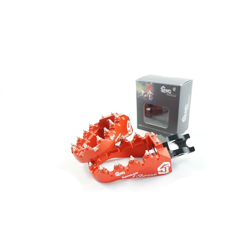 Footpegs adjustable #Barracuda KTM/ Beta/ Husqvarna/ Sherco/ Husaberg, orange