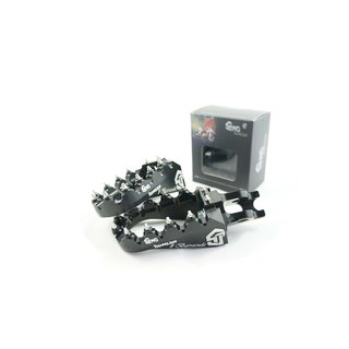 Footpegs adjustable #Barracuda Yamaha 96-/ GASGAS 99-, black