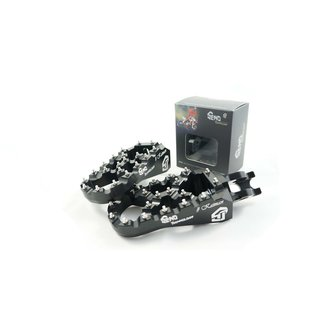 Footpegs adjustable #Kaiman Suzuki 08-, black